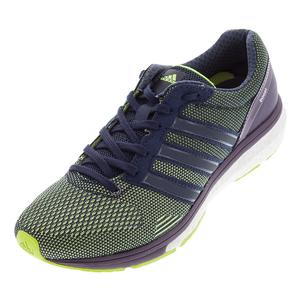 Women`s Adizero Boston 6 Running Shoes Solar Yellow and Midnight Gray