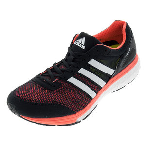 Men`s Adizero Boston 6 Running Shoes Black and White