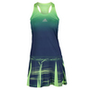 ADIDAS Women`s Adizero Tennis Dress Frozen Yellow and Midnight Indigo