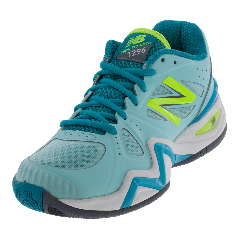 Women's 1296v1 B Width Tennis Shoes Sea Glass And Arctic Blue