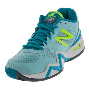 Women`s 1296v1 B Width Tennis Shoes Sea Glass and Arctic Blue