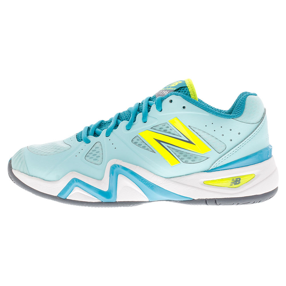 Women's 1296v1 D Width Tennis Shoes Sea Glass And Arctic Blue