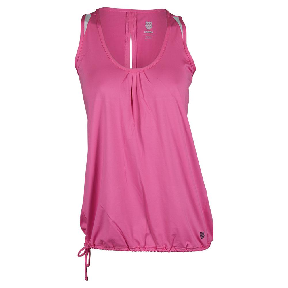 Women's 66 Tennis Top Shocking Pink And White