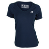Women`s Tournament Short Sleeve Tennis Top by NEW BALANCE