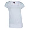 BOLLE Women`s Club Whites Cap Sleeve Tennis Top