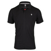 K-SWISS Men`s Hypercourt II Tennis Polo Black and Fiery
