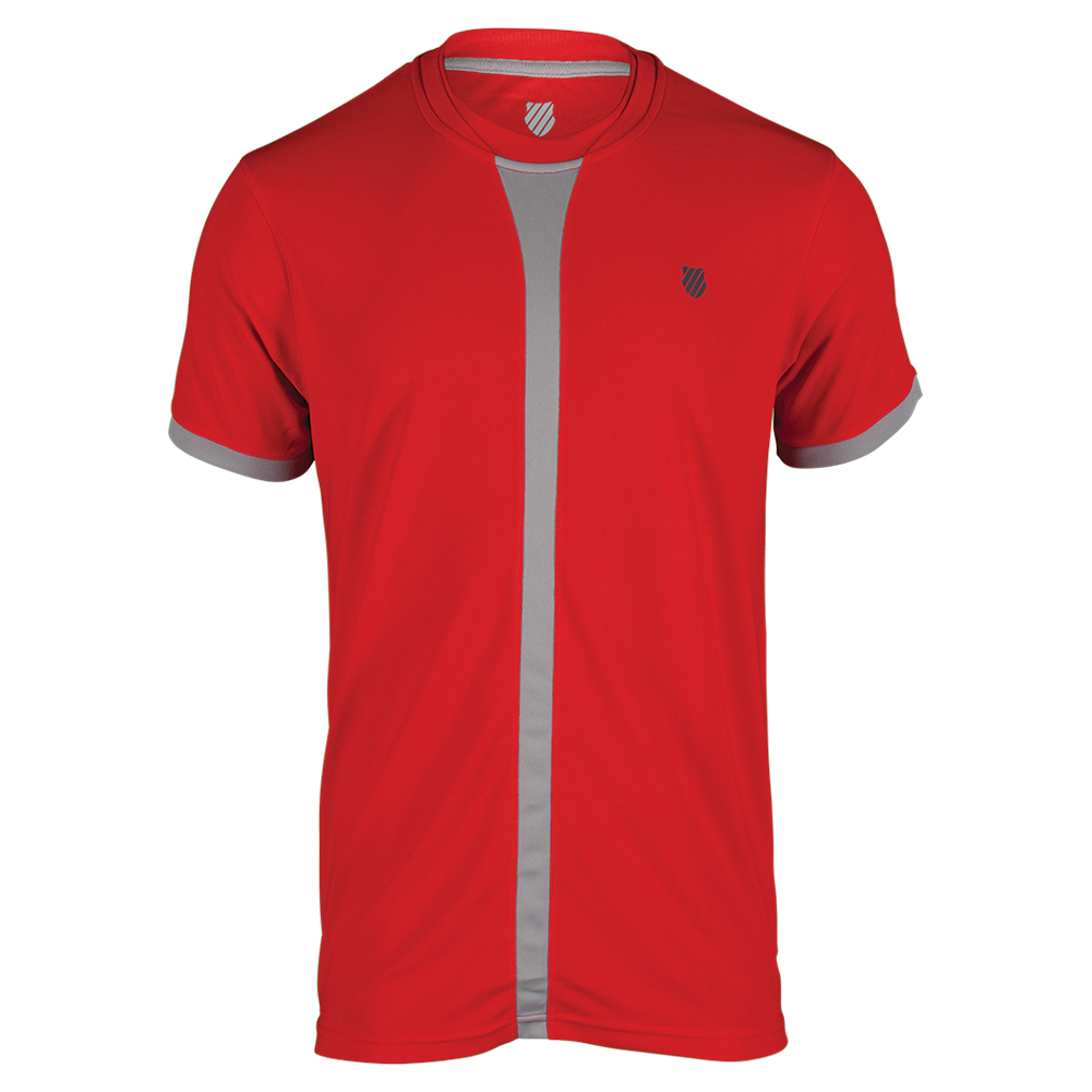 Men`s Hypercourt Tennis Crew Fiery Red and Gull Gray