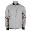 K-SWISS Men`s Hypercourt Tennis Jacket Gull Gray and Fiery Red