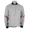 K-SWISS Men`s Hypercourt Tennis Jacket Gull Gray and Fiery Red