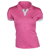 K-SWISS Women`s 66 Tennis Polo Shocking Pink and White