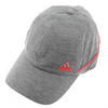 ADIDAS Women`s Studio Tennis Cap Gray and Flash Red