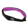 ADIDAS Women`s Performer Tennis Hairband Black and Flash Pink