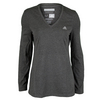 ADIDAS Women`s Climacool Aeroknit Long Sleeve Tennis Tee Black Heather