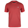 ADIDAS Men`s Climacool Aeroknit Short Sleeve Tennis Tee Vivid Red Heather