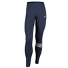 ADIDAS Women`s 3-Stripes Cotton Leggings Midnight Gray and White