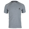 ADIDAS Men`s Ultimate Short Sleeve Tennis Crew Tee Medium Gray Heather