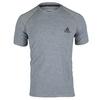 ADIDAS Men`s Ultimate Short Sleeve Tennis Crew Tee Medium Gray Heather