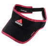 ADIDAS Women`s Adizero II Tennis Visor Black and Flash Red
