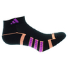 ADIDAS Women`s Climalite II Low Cut Tennis Socks 2 Pack Black and Flash Pink