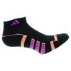 ADIDAS Women`s Climalite II Low Cut Tennis Socks 2 Pack Black and Flash Pink