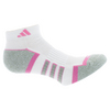 ADIDAS Women`s Climalite II Low Cut Tennis Socks 2 Pack White and Pink shoe sizes 5-10