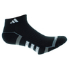 ADIDAS Women`s Climalite II Low Cut Tennis Socks 2 Pack Black and White