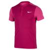 NIKE Men`s Premier Roger Federer Tennis Henley Sport Fuchsia and Vivid Pink
