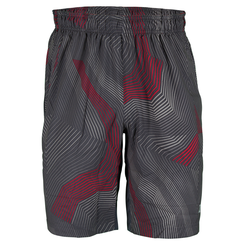 Boys ` Geo Web Print 8 Inch Tennis Short Coal And Formula One