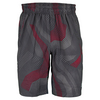 WILSON Boys` Geo Web Print 8 Inch Tennis Short Coal and Formula One