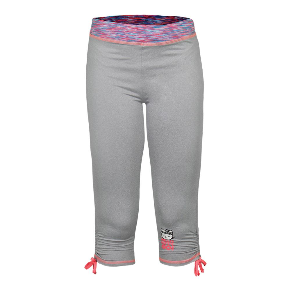 Girls'sport Capri With Side Cinch Legging Gray Heather