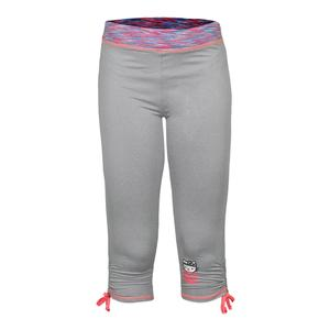 Girls` Sport Capri with Side Cinch Legging Gray Heather