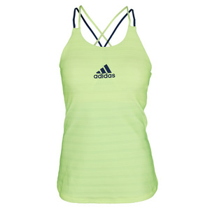 Women`s All Premium Strappy Tennis Tank Frozen Yellow