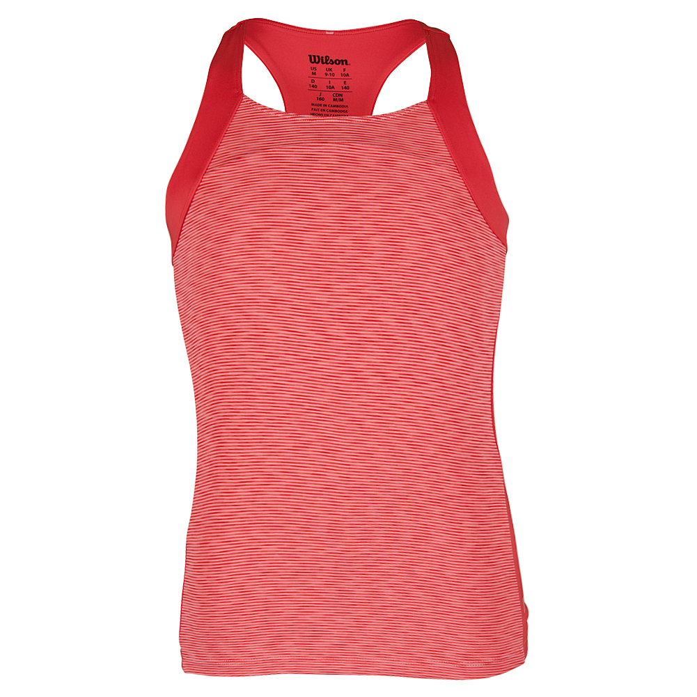 Girls'striated Racerback Tennis Tank Papaya