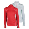 WILSON Women`s nVision Zip Neck Long Sleeve Tennis Top