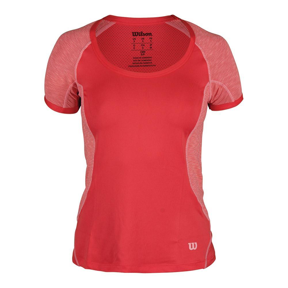 Women's Striated Tulic Cap Sleeve Tennis Top