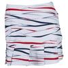 BOLLE Women`s Americana 14 Inch Printed Tennis Skort White