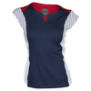 BOLLE Women`s Americana Cap Sleeve Tennis Top Navy