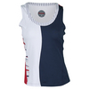BOLLE Women`s Americana Striped Tennis Tank Navy and White
