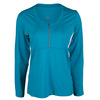 TAIL Women`s Janice Long Sleeve Tennis Top Optic Seaside