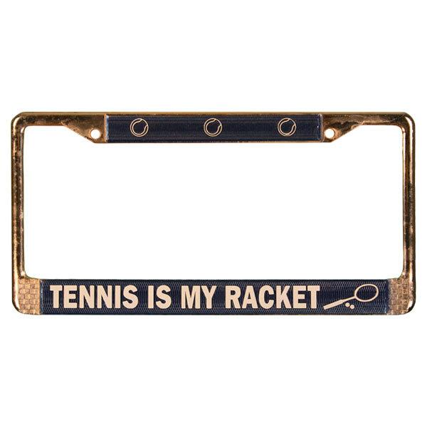 Metal Tennis License Plate Holder