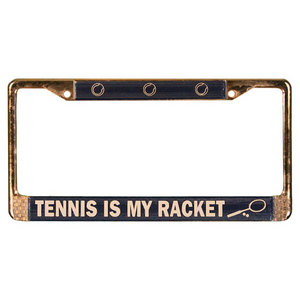 CLARKE METAL TENNIS LICENSE PLATE HOLDER