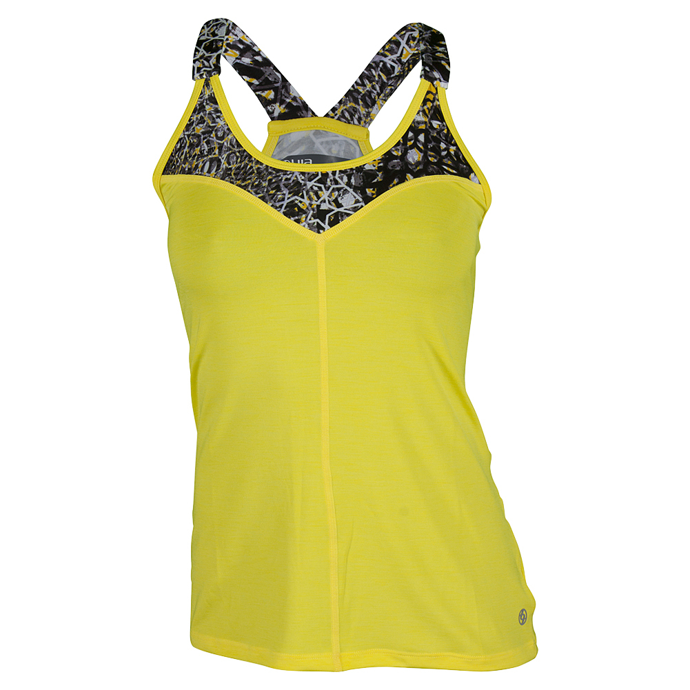 Women's V For Victory Tennis Tank Lemon And Print