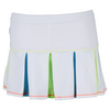 LUCKY IN LOVE Girls` Mesh Pleat Tennis Skort White