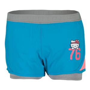 HELLO KITTY GIRLS 2-IN-1 FLASH SHORT BLUE
