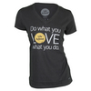 LIFE IS GOOD Women`s Do What You Love V-Neck Top Night Black