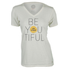 LIFE IS GOOD Women`s Be You V-Neck Top Simply Ivory