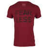 LIFE IS GOOD Men`s Fear Less Tee Rich Red