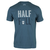LIFE IS GOOD Men`s Half Full Tee Pacific Blue