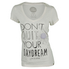 LIFE IS GOOD Women`s Don`t Quit Your Daydream V-Neck Top Ivory