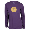 LIFE IS GOOD Women`s Long Sleeve Dot Logo Top Smoky Plum